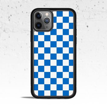 Checkerboard Blue Phone Case Cover for Apple iPhone Samsung Galaxy S & Note