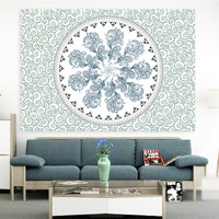 BeddingOutlet Wonderlife Mandala Tapestry Wall Decor Pleasant Art Tapestry Hippie Throw Bohemian Bedspread 140cmx210cm Favorite
