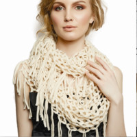 Perpetuity Infinity Scarf with Fringe | Assorted Colors