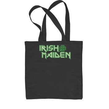 Irish Maiden ShamRocker Shopping Tote Bag