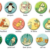 Custom Pocket Mirror Party Favor Animal Party Favor Pocket Mirror by boygirlparty - Original Colorful Illustrations