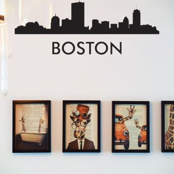 Boston USA Cityscapes Vinyl Wall Decal - Removable (Indoor)