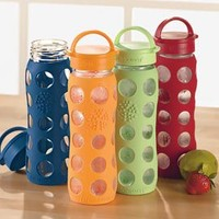 Solutions - Silicone-Sleeve Glass Water Bottle