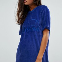 Ellesse Oversized T-Shirt Co-Ord In Velour at asos.com