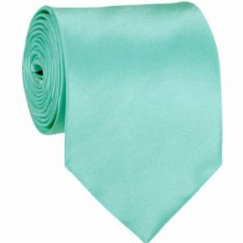 Aqua Blue Solid Color Necktie