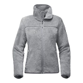 Women's Campshire Full Zip Sherpa Fleece in Mid Grey by The North Face