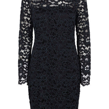 Mulan Black & Grey Lace Dress