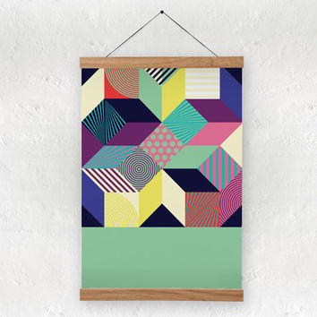 Abstract art print - A4 size - 100% recycled paper/ eco friendly home decor