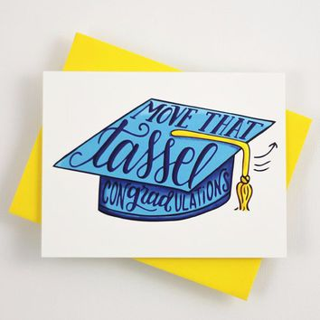 Card - Move that tassel, conGRADtulations