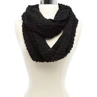 TEXTURED POPCORN KNIT INIFINITY SCARF