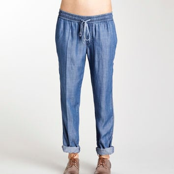 Michael Stars Denim Tencel Drawstring Pant