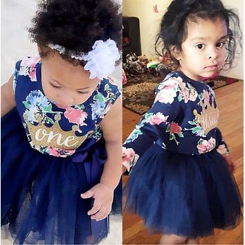Pudcoco Newborn Infant Baby Girls Summer Ruffle Tulle Party Dress Sundress Clothes 0-24M