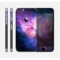 The Vibrant Purple and Blue Nebula Skin for the Apple iPhone 6