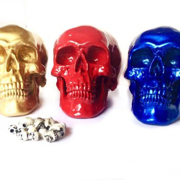 Custom Decorative Skulls - Faux Taxidermy- Human Skull Replica - Skull Decor - Teen Decor  - Gothic Decor - Day of The Dead - Faux Skull