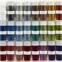 Martha Stewart Crafts Glitter Set, Rich Essentials