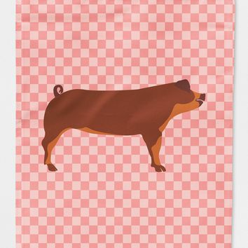 Duroc Pig Pink Check Flag Canvas House Size BB7942CHF