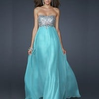 Beautiful A-line Scoop Neckline Floor Length Sequins Prom Dress