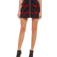 Lucy Paris Over Ruled Plaid Mini Skirt | Dillards
