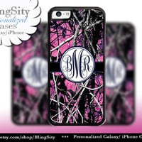 Camo Navy Monogram iPhone 5C 6 Plus Case iPhone 5s 4 case Ipod muddy Realtree Personalized Cover Country Inspired Girl