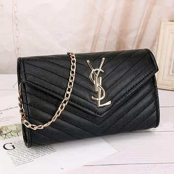 YSL Yves Saint laurent Women Leather Fashion Handbag Tote Crossbody
