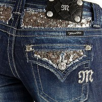 Miss Me Sequin Boot Stretch Jean - Women's Jeans | Buckle