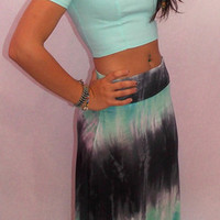 Pretty Twisted Tye-Dye Maxi Skirt - Haute Pink Boutique