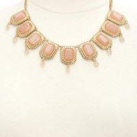 Dangling Faceted Stone Statement Necklace by Charlotte Russe - Gold