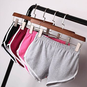 New 2017 Summer Shorts Women  Shorts Workout Waistband Skinny Shorts