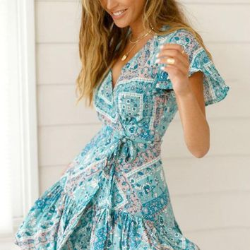 Easy On The Eyes Floral Wrap Dress