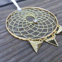 Gold Triangle Dream Catcher-Car
