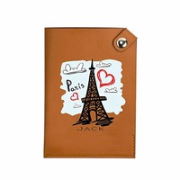 Paris Effel Tower Pocket Customized Cute Leather Passport Holder - Passport Covers - Passport Wallet_SUPERTRAMPshop