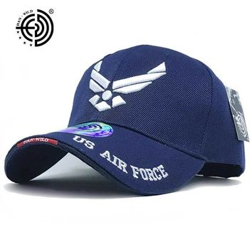 Trendy Winter Jacket [HAN WILD] Brand USAF Tactical Baseball Cap Mountaineer Caps Casual Air Force Cap Men Women Beisebol Snapback USA Army Hat AT_92_12