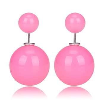 Gum Tee Mise en Style Tribal Earrings - Jelly Bean Baby Pink