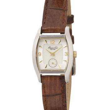 Kenneth Cole KC2387 Women's MOP Dial Brown Leather Strap Watch