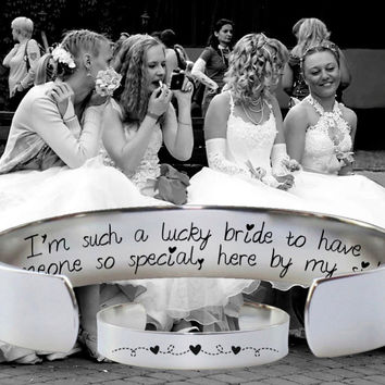 Bridesmaid Gift | Friend Gift | Best Friend Gift | Maid of Honor Gift | I'm such a lucky bride | Personalized Gift | Korena Loves