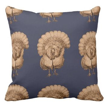 Tom Turkey Pattern on Pillow