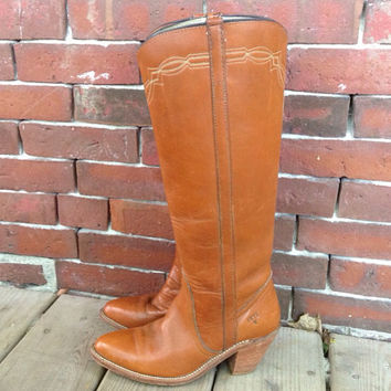 FRYE Knee High Embroidered Riding Campus by DreamingTreeVintage