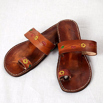 cf9876423d90 Best Leather Toe Ring Sandals Products on Wanelo