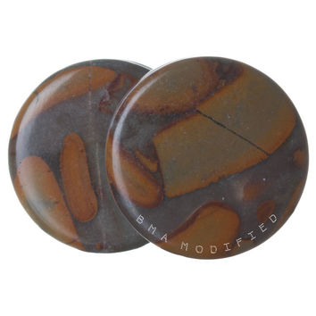 Retro 70's Jasper Stone Plugs (3mm-51mm) XL