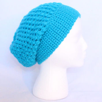 Slouchy Beanie in Turquoise