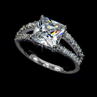 Princess Cut CZ Engagement Style Ring