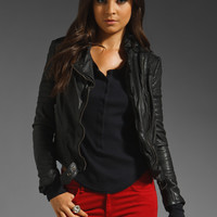 Muubaa Minsk Quilted Leather Jacket in Black from REVOLVEclothing.com