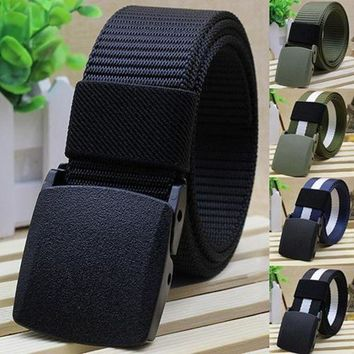 DCCKFS2 Handsome Cool Men's Fashion Practical  Tactical Military Nylon Buckle Waist Belt Waistband New Arrival