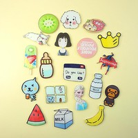 Creative cartoon acrylic craft fridge magnets Personality magnetic refrigerator