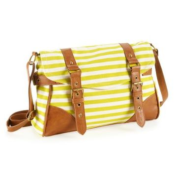 Striped Buckle Crossbody