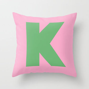 K is for... Throw Pillow by Project M