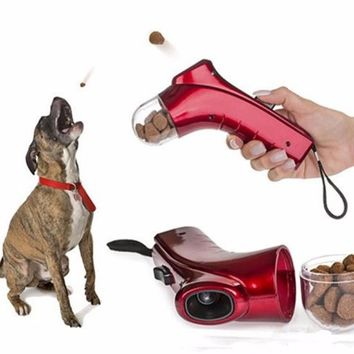 Funny Dogs Cats Toy Food Treat Launcher Interactive Pet toys Fun watch dogs hunting trainings keen jump playing for dog Cat