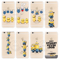 New Arrival Fashion Cute Funny Cartoon Minions Painted Shell Hard Cover Case For Apple iPhone 6 6S 4.7""