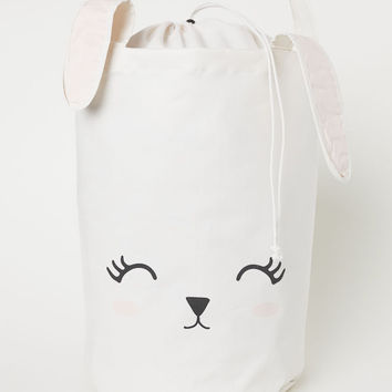 Printed Storage Basket - White/Rabbit - | H&M US