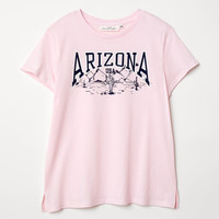 T-shirt with Printed Design - Light pink/Arizona - Ladies | H&M US